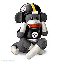 Pittsburgh Steelers Sock Monkey Music Box