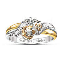 USMC Diamond Ring