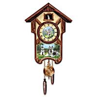 Sweet Schnauzers Cuckoo Clock