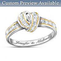 Wrapped In Love Personalized Diamond Ring