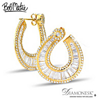 Bob Mackie Golden Glamour Earrings