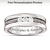 The Strength Of Our Love Personalized Diamond Ring