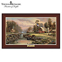 Thomas Kinkade Sunset At Riverbend Farm Wall Decor