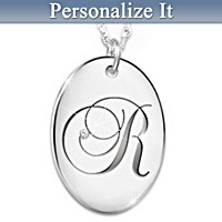 Precious Daughter Personalized Diamond Pendant Necklace