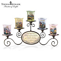 Thomas Kinkade Warmth Of Home Candleholder Set