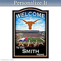 Texas Longhorns Personalized Welcome Sign