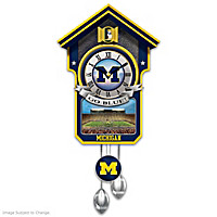 Michigan Wolverines Cuckoo Clock