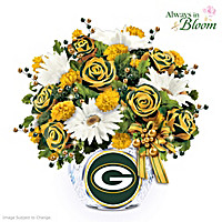 Green Bay Packers Blooming With Pride Table Centerpiece