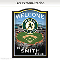Oakland Athletics Personalized Welcome Sign