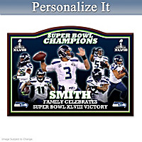 Seattle Seahawks Super Bowl XLVIII Personalized Wall Decor