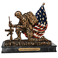God Bless Our Marines Sculpture