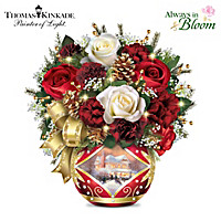 Thomas Kinkade Holiday Cheer Table Centerpiece