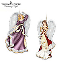 Thomas Kinkade Star Of Wonder & Messenger Of Peace Ornaments