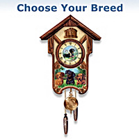 Playful Pups Cuckoo Clock