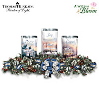 Thomas Kinkade Light Of The Season Table Centerpiece