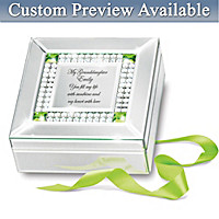 Granddaughter, You Fill My Heart Personalized Music Box