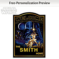 Star Wars Personalized Welcome Sign