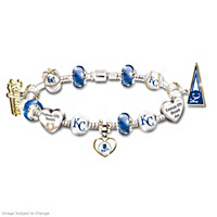 Kansas City Royals Charm Bracelet With Swarovski Crystal