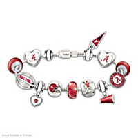 Go Crimson Tide! #1 Fan Charm Bracelet