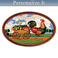 Charles Wysocki Country Charm Personalized Collector Plate