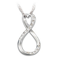 Forever My Granddaughter Diamond Pendant Necklace
