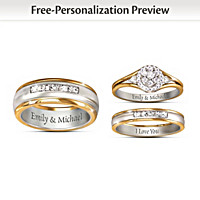Together Forever His & Hers Personalized Wedding Rings