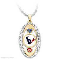 For The Love Of The Game Houston Texans Pendant Necklace