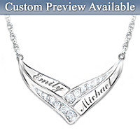 Enduring Love Personalized Diamond Necklace