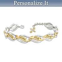 Our Family Of Faith & Love Personalized Bracelet