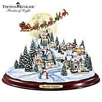Thomas Kinkade Moonlit Holiday Sculpture