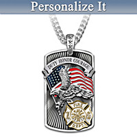 American Hero Pendant Necklace