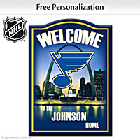 St. Louis Blues® Personalized Welcome Sign