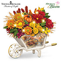 Thomas Kinkade Seasonal Splendor Table Centerpiece