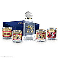 San Francisco 49ers Decanter Set
