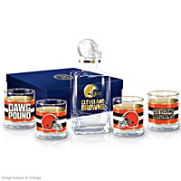 Cleveland Browns Decanter Set