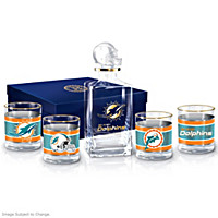 Miami Dolphins Decanter Set