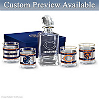 Chicago Bears Personalized Decanter Set