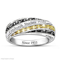 """Steelers In Vogue"" Engraved Fashion Ring"