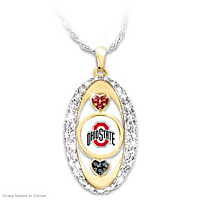 For The Love Of The Game Ohio State Pendant Necklace