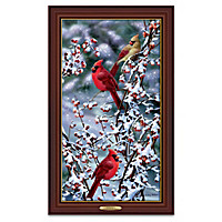 Cardinals In Snow Wall Decor