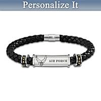 Air Force Personalized Men's Bracelet