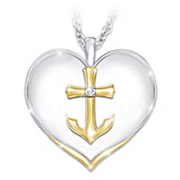 Anchored In Faith Diamond Pendant Necklace