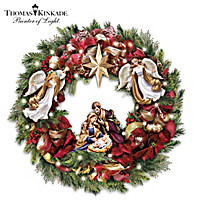 Thomas Kinkade Season's Blessings Wreath