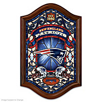 New England Patriots Illuminated Stained-Glass Wall Decor