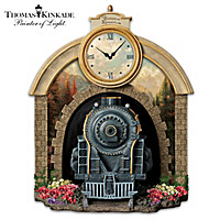 Thomas Kinkade Train Wall Clock