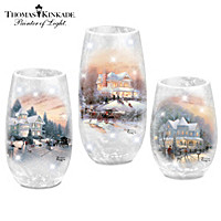 Thomas Kinkade Making Spirits Frosty And Bright Sculpture