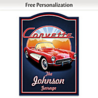 Corvette Personalized Welcome Sign