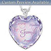 The Heart Of Our Family Personalized Pendant Necklace