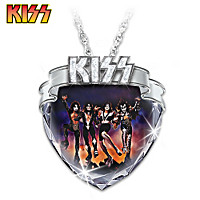 KISS Crystal Pendant Necklace
