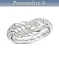 Bless My Family Personalized Diamond Ring